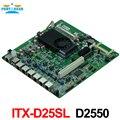 Motherboard Firewall ITX-D25SL D2550 Dual-core CPU com 6 portas ethernet