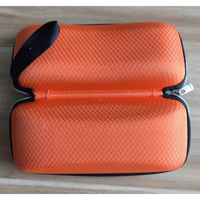 4 color black blue coffe orange glasses case for women men eyeglasses box square compression zipper casual sunglasses case in Eyewear Accessories from Apparel Accessories