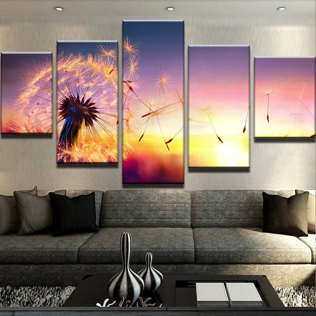 Modular Picture Canvas Wall Art Landscape Canvas Painting 5 Panel ...