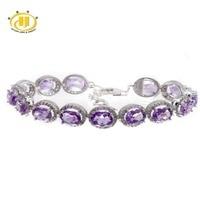 21 78 CT Natural Purple Aemthyst Zircon Gemstone Solid 925 Sterling Silver Bracelet For Women Fine