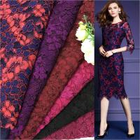 Red Blue Purple Wine Red Dark Red Fushia Black 6colors High Quality Cord Lace Fabric Lady