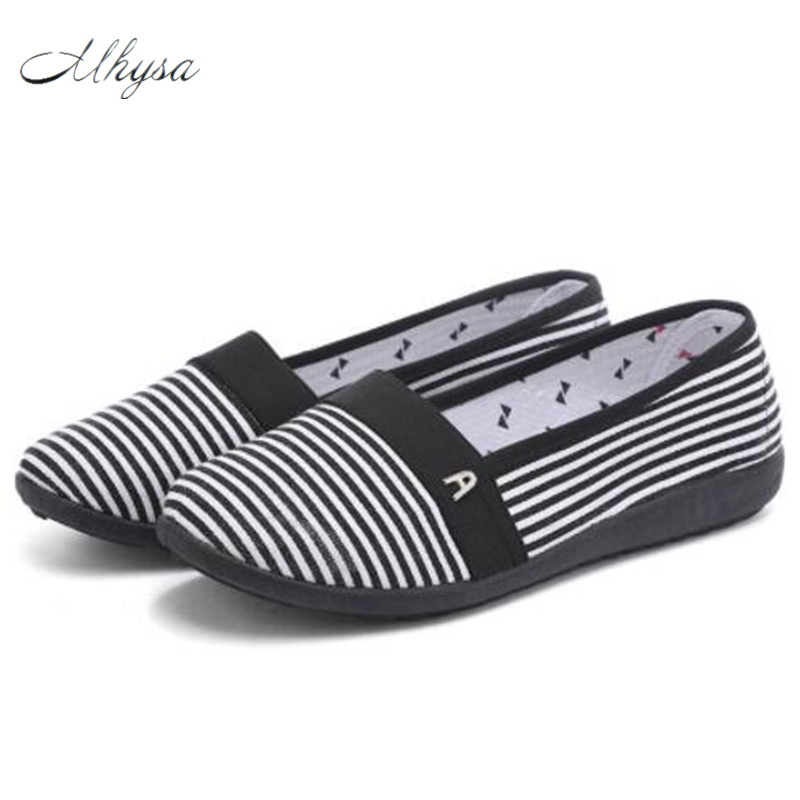 Mhysa 2018  women casual spring & summer slip on loafers lady cute comfortable slip on flat shoes female flats S90 women loafers casual shoes female round toe slip on wide shallow flats lady shoes oxford spring summer shoes for women or910314