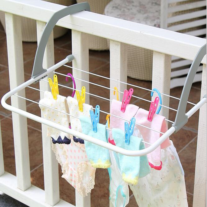Practical Folding Drying Rack Hanger towel holder Metal Hook Large Clip  for Balconies/ parapets/ window /Radiator полотенце brand new 1 hair drying towel