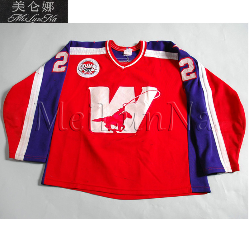 MeiLunNa personnaliser Calgary Wranglers maillots maison route blanc rouge cousu tout nom NO. taille WMeiLunNa personnaliser Calgary Wranglers maillots maison route blanc rouge cousu tout nom NO. taille W