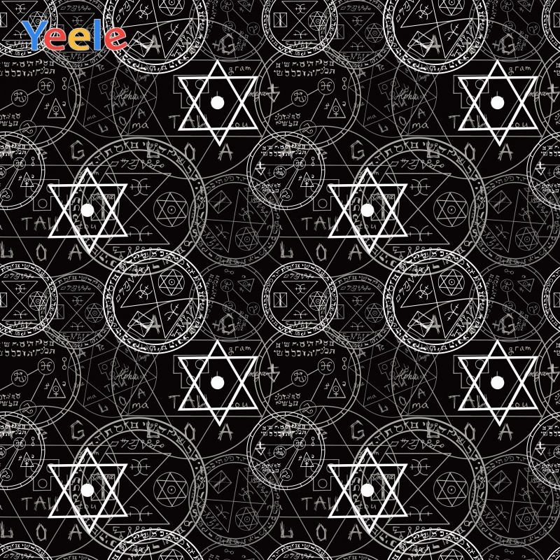 Yeele Wallpaper Black Backdrop Astral Compass Mystery Photography Personalized Photographic Background For Photo Studio