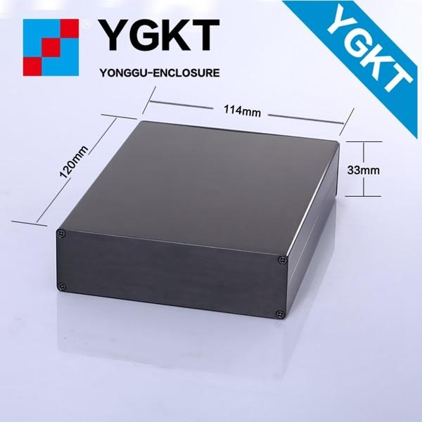 YGS-011 114-33-120 mm (W-H-L) aluminum extruded enclosure aluminum extrusion box aluminium case 1pcs lot custom processed factory extrusion aluminum material electrical junction box case enclosure 80 h x234 w x250 l mm