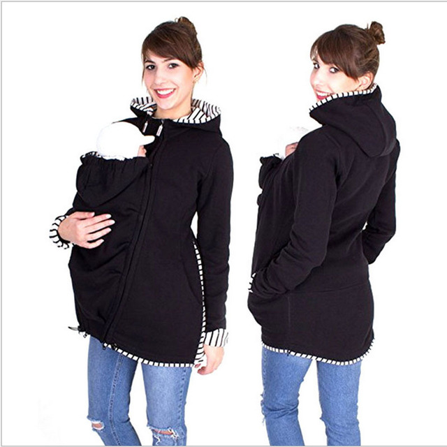 569e55d846f Warm Cotton Women s Maternity Hoodies Carrier Baby Holder Jacket Kangaroo  Baby HolderJackets Hoodies for pregnant women Clothes