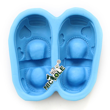 Nicole Silicone Soap Mold Shoes Shape Mould DIY Handmade Chocolate Candy Decorating Tool