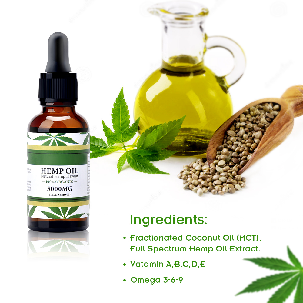 Full Spectrum Hemp Oil Drops Natural Hemp Seed Oil 100025005000mg Pain Relief Sleep Aid Relaxation Mood Support Essential Oils (4)