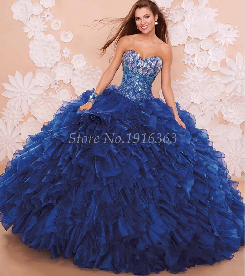 10241082ed18c Royal Blue 2016 Elegant Quinceanera Dresses Off The Shoulder Vestidos De 15  Anos Sweet 16 Dresses Masquerade Ball Gowns-in Quinceanera Dresses from  Weddings ...