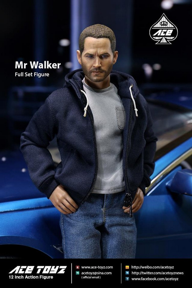 "1/6 scale figure doll Fast&Furious Paul Walker 12"" action figure doll Collectible figure model toy,car not include"