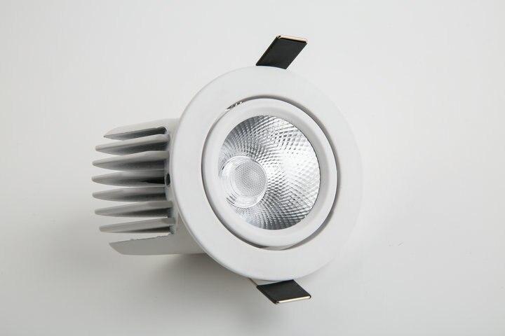 2018 Новый Abajur светильник 4 шт./лот затемнения светодиодный светильник, свет удара потолка спот 10 Вт 85-265 В встраиваемые огни Освещение в помеще...