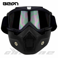 New Beon Motorcycle Face Mask Dust Mask With Detachable Goggles And Mouth Filter For Modular For