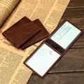 Men's Genuine Leather Driver License Holder High Quality Credit Card Case credit Card Holder Real Leather Cowhide Slim ID Wallet