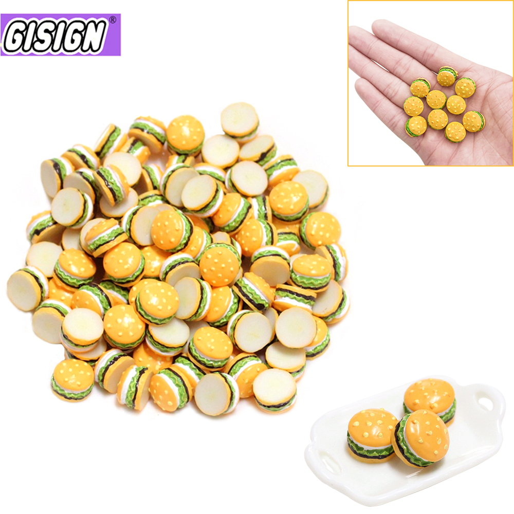Mini Hamburger Supplement Charms For Slime DIY Polymer Filler Addition Slime Accessories Toy Lizun Modeling Clay Kit For Child