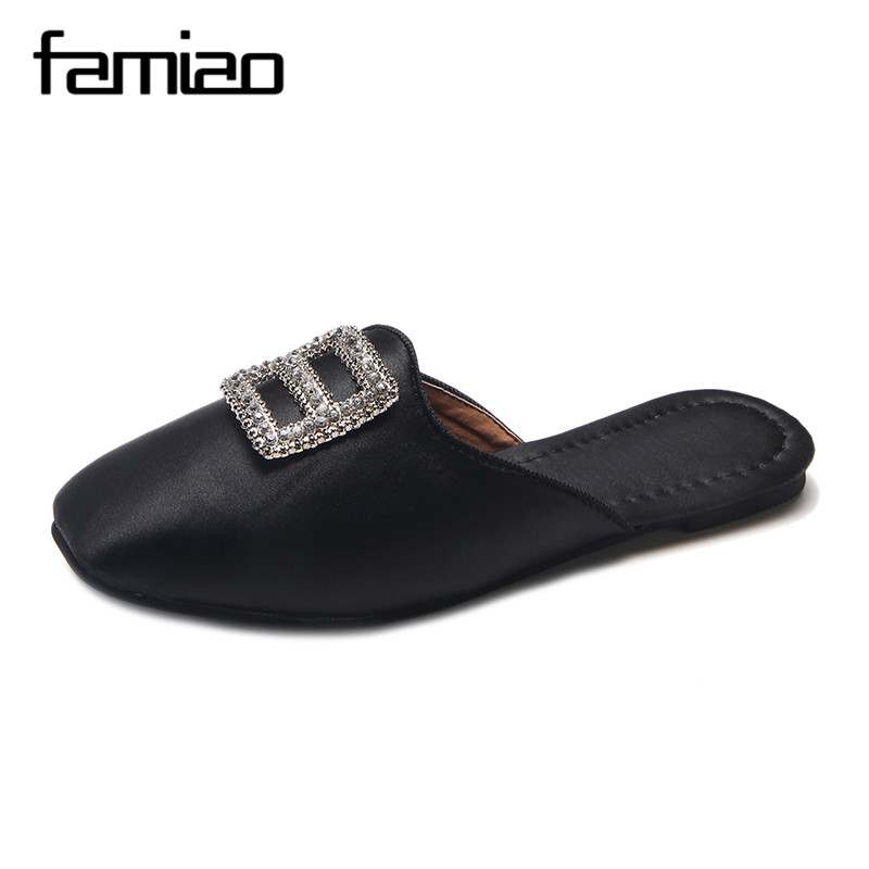 FAMIAO Women slipper chaussures femme flip flops crystal sapato feminino woman shoes 2018 spring jelly shoes slides women