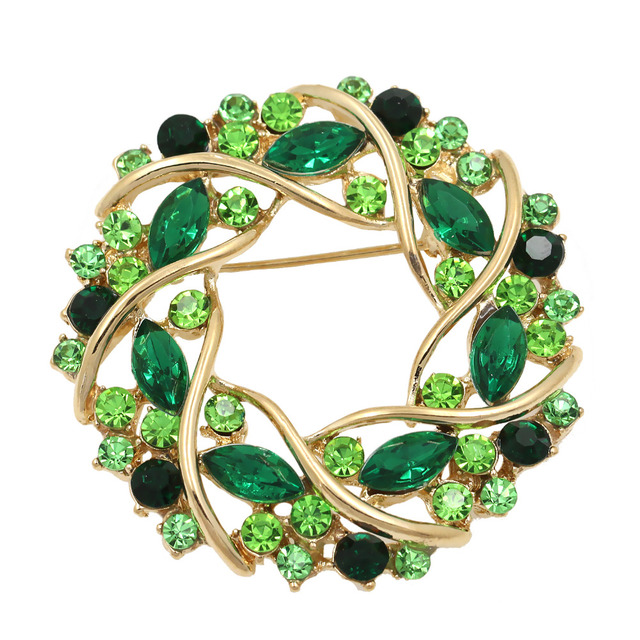 Factory Direct Sale Women Crystal Rhinestone Garland Brooch In 5 Colors Free DHL