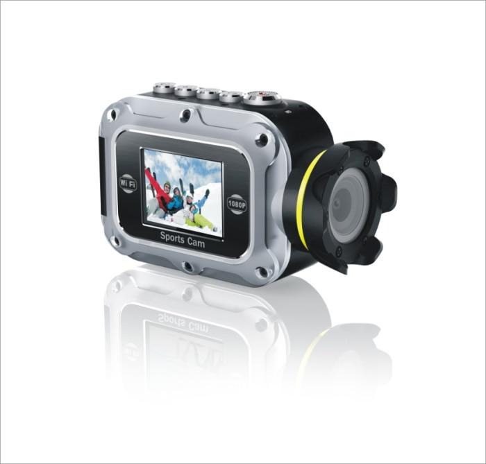 Full hd 1080 p 30 fps cámara impermeable de la acción con la batería de litio re