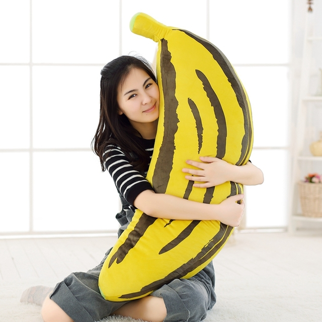 Azoo New Hot Sale Big Size Tiger Skin Banana Simulation Big Banana