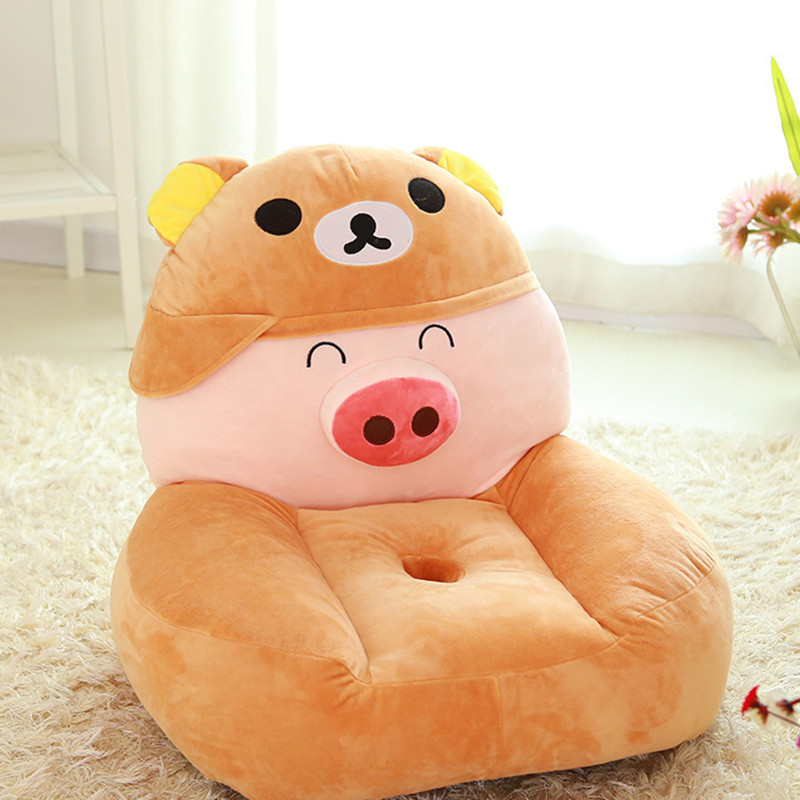 ФОТО Creative Children's Gift Big Monkey Plush Toy Birthday Gift Lazy Sofa Cartoon Various Animal Shapes Chair Hand Shape Bear Seat
