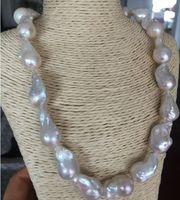 classic 20 25mm south sea white baroque pearl necklace 18inch925silver
