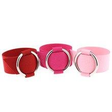 Wide Black Velvet Leather Bracelets Metal Silver Big Circle Wrap Bracelet Femme Wristband Jewelry