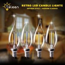 NEW LED FILAMENT BULB E27 E14 G45 C35 RETRO EDISON LAMP 220V VINTAGE CANDLE LIGHT DIMMABLE GLOBE AMPOULE FOR HOME DECOR