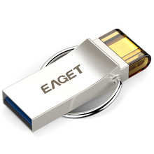 EAGET V90 OTG USB 3,0 64G 32G 16G смартфон планшетный ПК USB флэш-накопители OTG внешних накопителей микроперо Drive Memory Stick