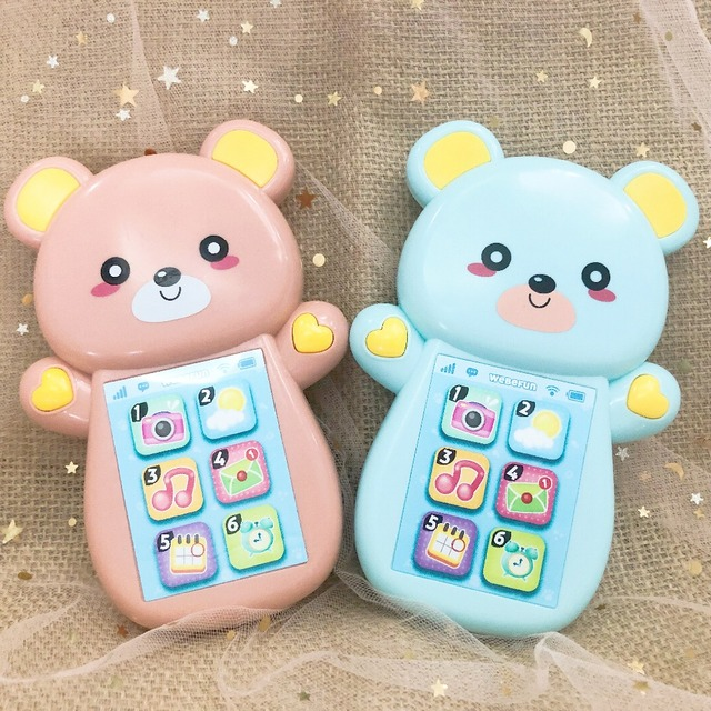 Baby Rattle Bed Toy Education Music Mobile Phone for Kid Wooden Stroller Crib Toy Newborn 0-12 13-24 Months Infant Child Toddler