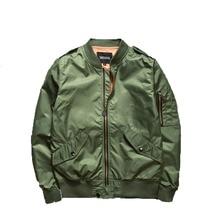 2016 herbst Ma1 Bomber Jacken Männer Armee Grün Militärischen Windjacke Lässig Kanye West Männlichen Fliegerjacke Pilot Air Force Mäntel