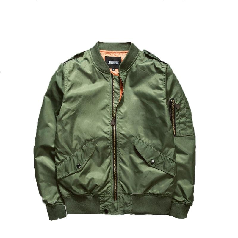 2017 년 가을 Ma1 폭격기 재킷 남자 육군 녹색 군용 윈드 브레이커 캐주얼 카니 예 웨스트 남성 비행 재킷 파일럿 에어 포스 코트