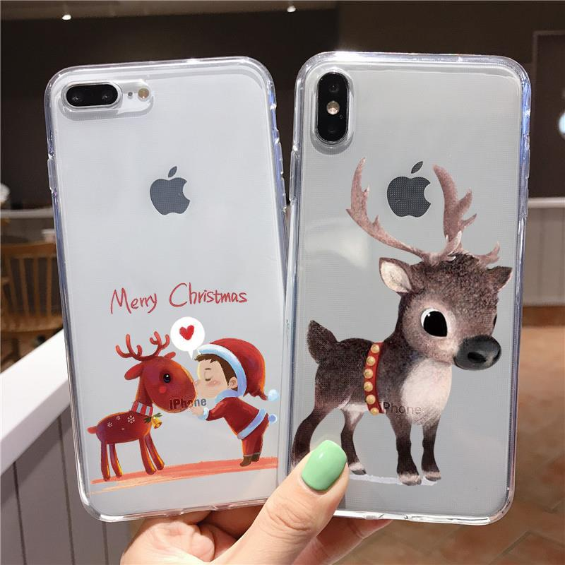 Merry Christmas Silicone Soft TPU <font><b>Case</b></font> <font><b>For</b></font> <font><b>iPhone</b></font> 11 Pro XR XS Max X 5 5S S SE <font><b>4</b></font> 4S 8 7 5C 6 6S Plus <font><b>Case</b></font> Fundas Bags Back Cover image