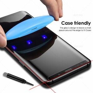 Image 2 - Akcoo نوت 9 حامي الشاشة مع نانو السائل UV الغراء لسامسونج غالاكسي S8 S9 زائد S7 S6 حافة نوت 8 الغراء الكامل الزجاج حامي