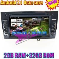 TOPNAVI 2G + 32 ГБ Восьмиядерный Android 7,1 автомобильный медиацентр dvd плеер для peugeot 308 408 Стерео gps Naviagtion Авто Видео 2Din MP3