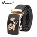 Men Belt Business Luxury Brands Genuine Leather Belt Men Horse Agio Automatic Buckle Men's Belts Big Size