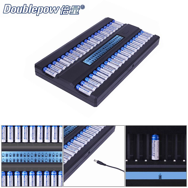 Smart Intelligent Fast 40 Slots AA Battery Charger with LCD Display and IC Protection for KTV Club Dedicated Microphone soshine sc s7 us plug intelligent aa aaa battery charger with lcd display 100 240v