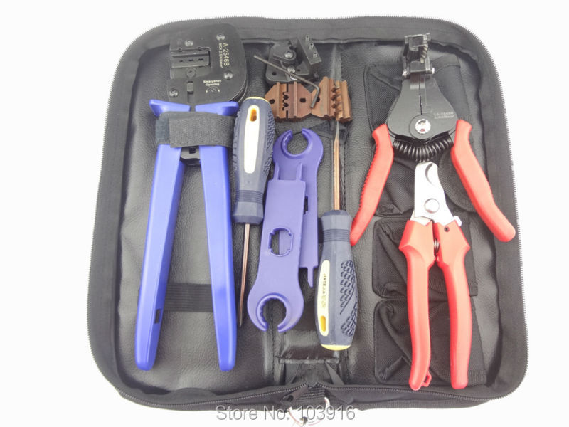 Crimp tool Kit of PV Crimper for MC3 MC4 Tyco Connector PV cable cutter