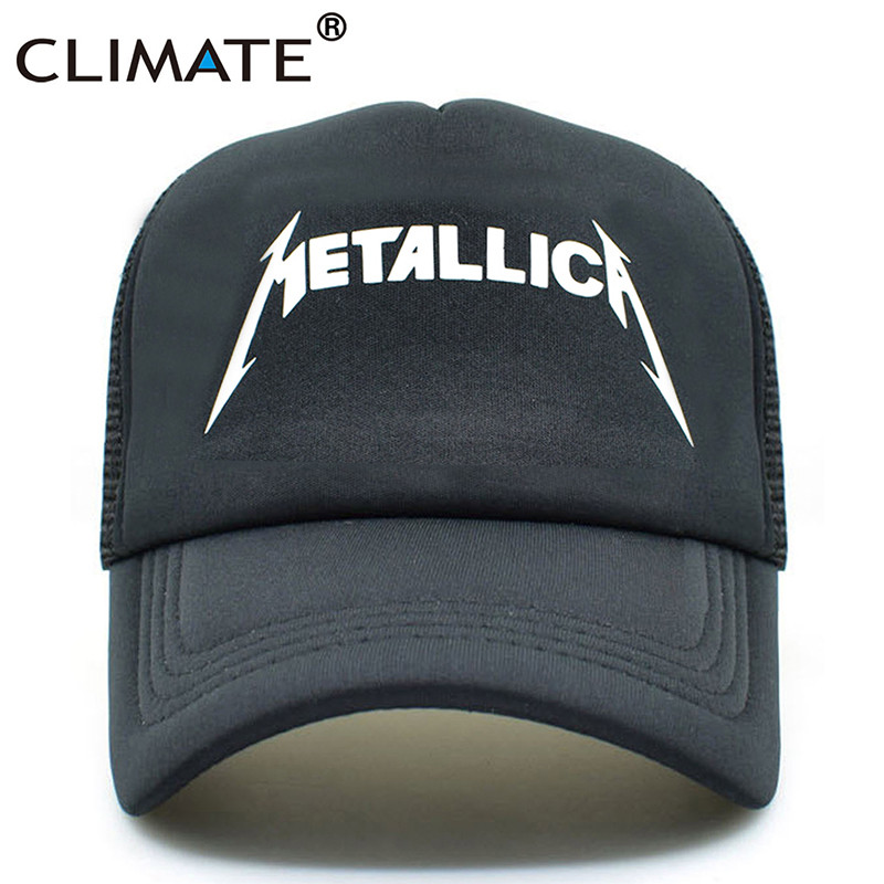 CLIMATE Metallica Metal Rock Band Summer Cool Mesh Caps 2017 Music Rock Fans Cool Summer Baseball Net Trucker Caps Hat