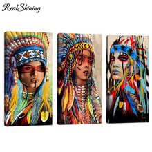 Large Diy Diamond Embroidery,Girl Chief 5D,Diamond Painting,Cross Stitch,Mosaic Needleworks,Crafts,FS4722