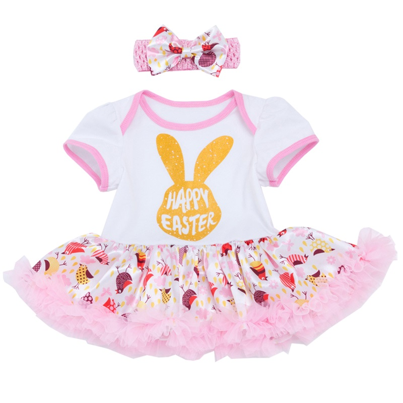 Newborn Easter Sunday Baby Tutu Romper Easter Day clothes Outfits Baby Girl Jumpsuit NewBorn Infant Clothing Bebes Infantil infant newborn baby girl summer casual clothes big ruffles sleeve watermelon romper outfits sunsuit jumpsuit clothing