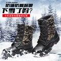 Homem inverno botas de segurança à prova de Punção moda quente calçados de segurança ao ar livre a tampa de aço sapatos de trabalho com algodão anti desgaste do exército de inicialização