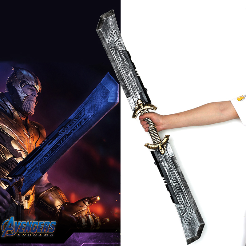 Length 1 1m Thanos Double edged Sword Cosplay Avengers Endgame Thanos Costume Accessory Thanos Infinity Gauntlet Halloween Props in Costume Props from Novelty Special Use