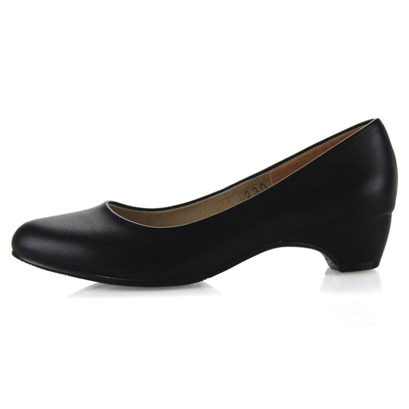 Hot Sale Women Genuine Leather Office Shoes Classic Plain Cow
