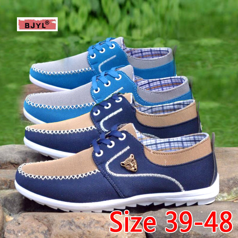 BJYL Fashion brand man Sneakers Canvas men's shoes For Men Daily casual shoes Spring Autumn man's sneakers shoes
