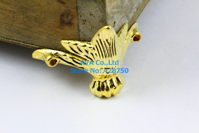 4 Pieces Gold Jewelry Box Feet Animal Box Leg 42x30mm