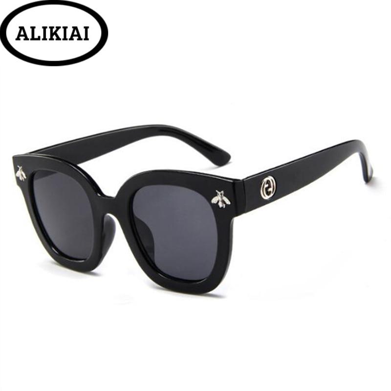 ALIKIAI Oversized Square Sunglasses Women 2018 Brand Designer Vintage Sun Glasses For Women Eyewear UV400 Shades Ladies