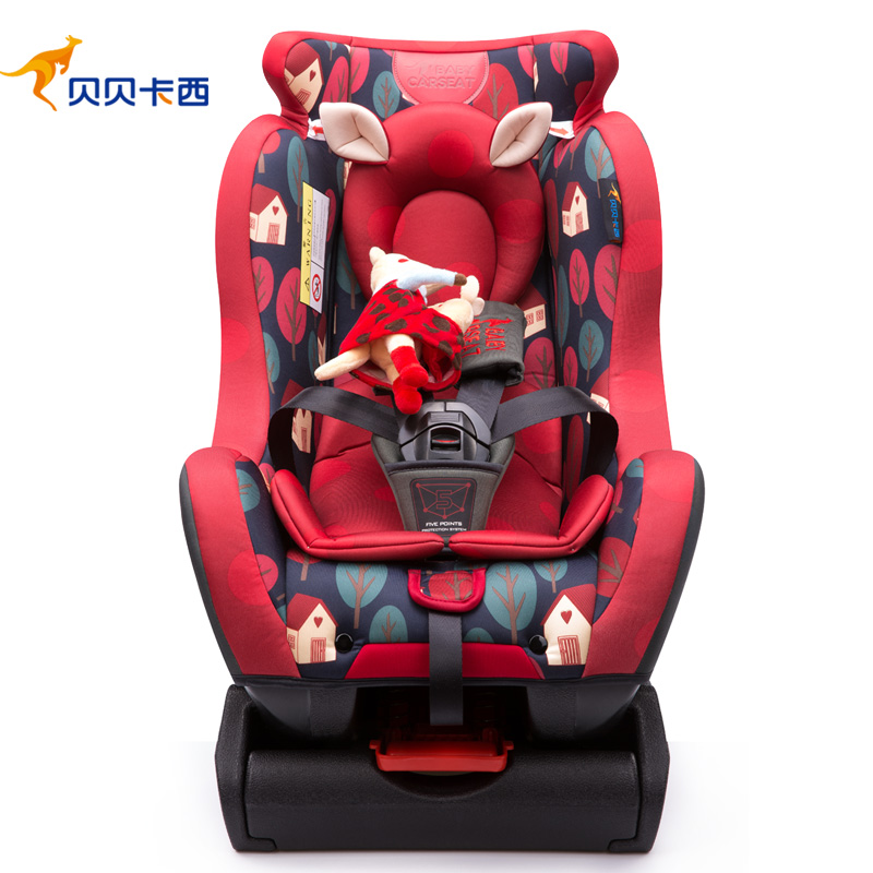Car safety seat for children from 0 to 6 beiand t10 composite cotton children car safety seat red