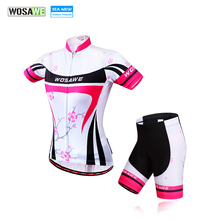 WOSAWE bora cycling 2017 cycling set women Gel Padd Bike Shorts Mtb Bike Pink Cycling Clothing for Bicycle Sports