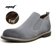 Warm winter plus cotton men boots velvet high-top casual shoes trend of England men's ankle boots brand style men casual shoes