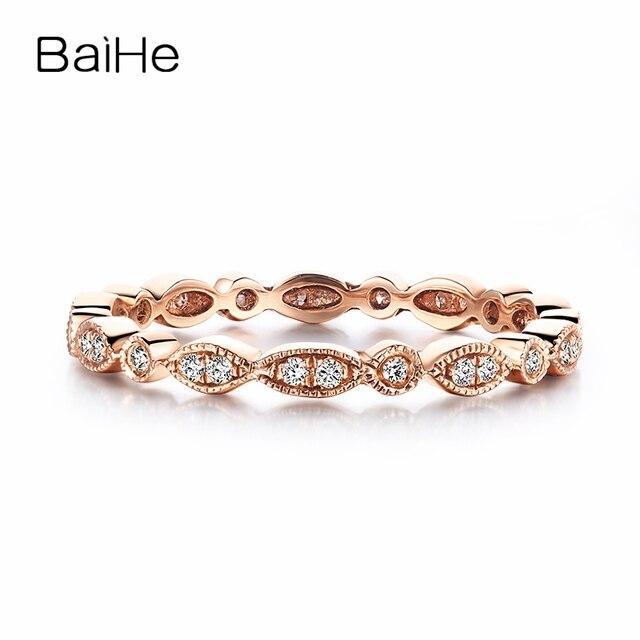 Volle Ewige Solide 18 Karat Rosegold Si H Naturliche Diamanten